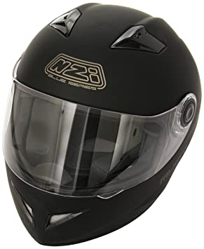 NZI 150204G093 Must SOB Casque de Moto, Noir Mat, Taille : XS
