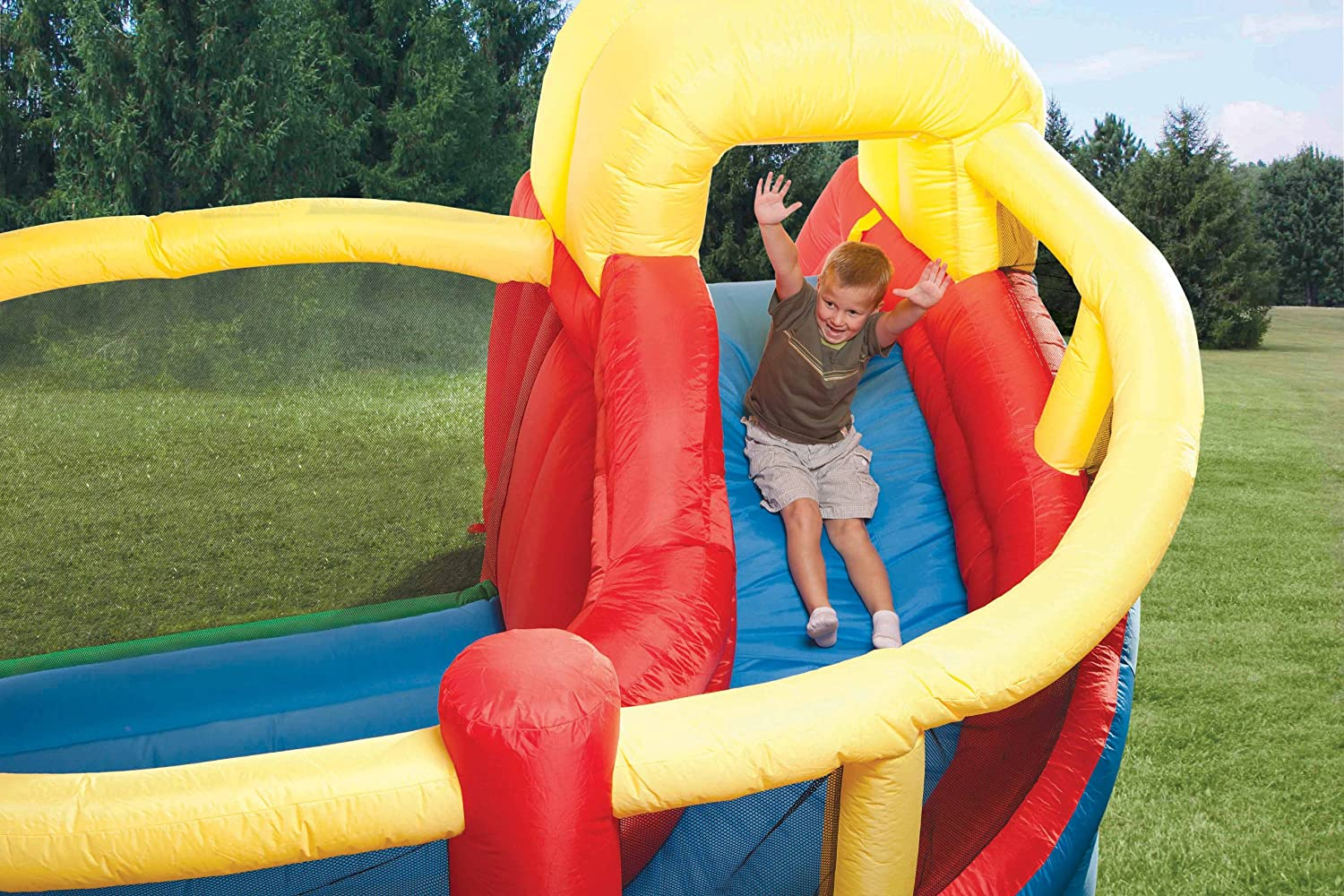 An Image of Little Tikes Double Fun Slide 'n Bounce Bouncer
