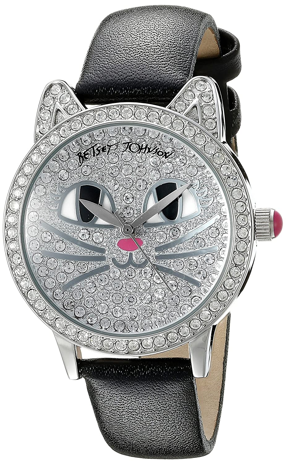 Betsey Johnson Women's BJ00561-05 Analog Display Quartz Black Watch