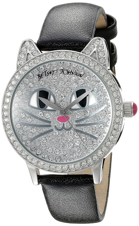 Betsey Johnson Women's BJ00561-05 Analog Display Quartz Black Watch