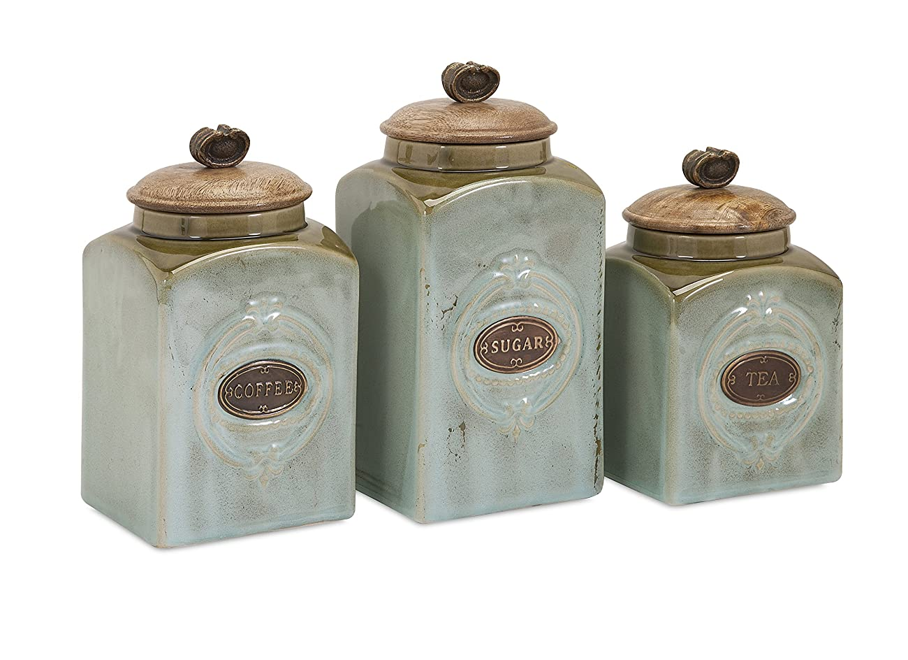IMAX 73327-3 Addison Ceramic Canisters 0