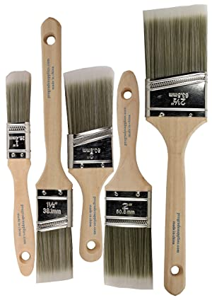 12Ea 3A Angle Premium Wall//Trim House Paint Brush Set Great for Professional Painter and Home Owners Painting Brushes for Cabinet Decks Fences Interior Exterior /& Commercial Paintbrush. Pro Grade Supplies