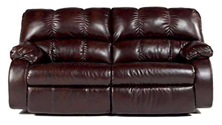 Red Brown Contemporary Living Room Reclining Sofa Couch