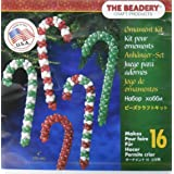 Beadery Holiday Beaded Ornament Kit, Candy Cane Assortment (Color: Original Version)