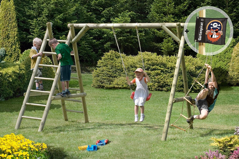 Gartenpirat Schaukel Holz Classic 3.1 Schaukelgestell mit Leiter und Seil online kaufen