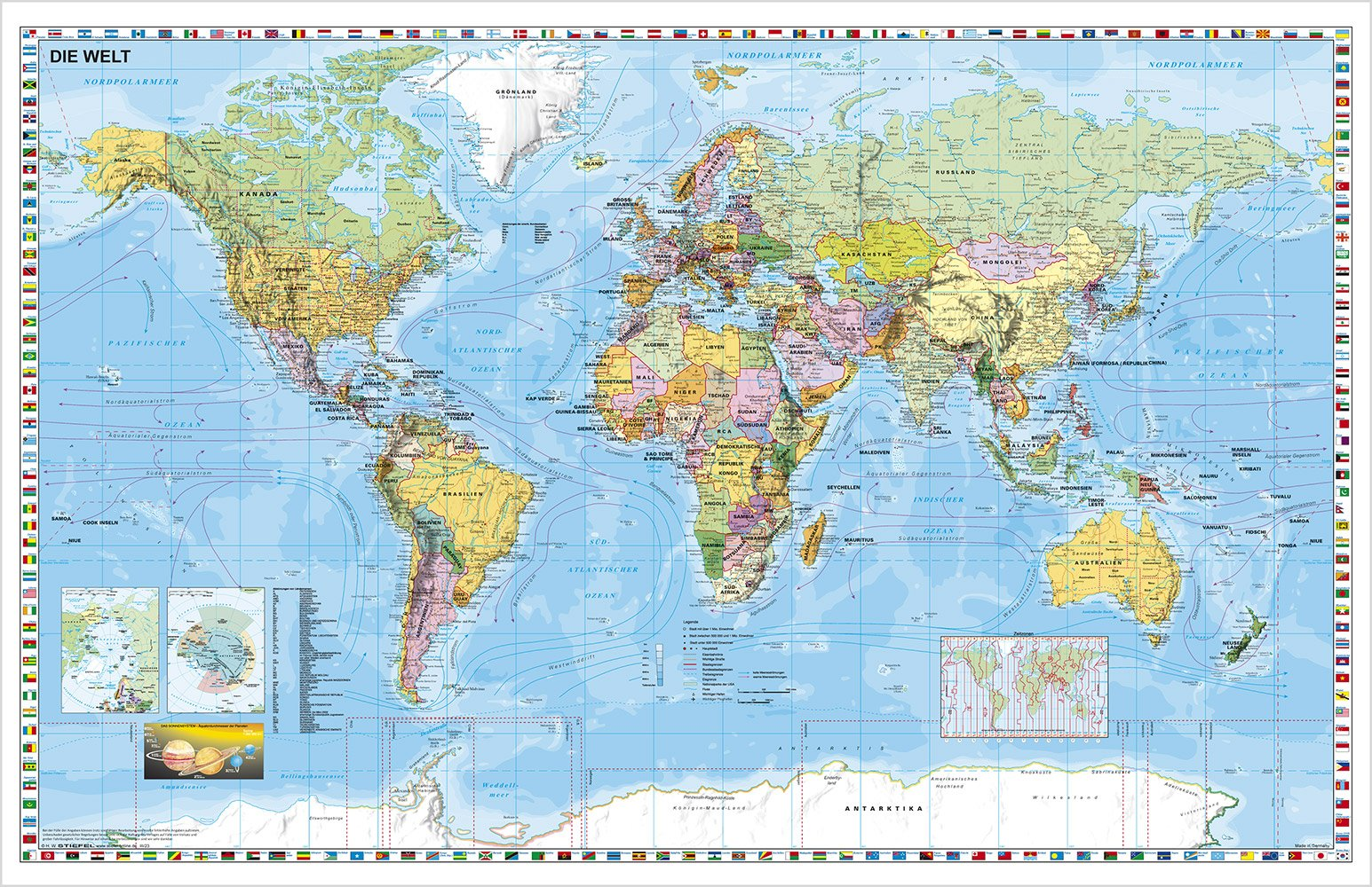 Nordpolarmeer Karte.Weltkarte Bestellen Karte