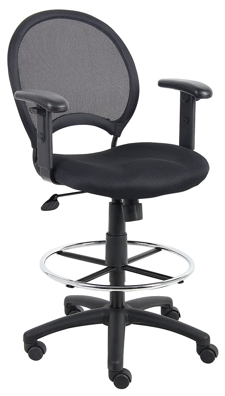 Boss B16216 Mesh Drafting Stool With Adjustable Loop Arms