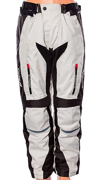 Roleff Racewear 15245 Pantalon de Moto Memphis, Gris, Taille XL