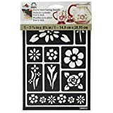FolkArt Peel and Stick Painting Stencil, 30459 Floral (Color: Floral)