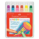 Faber-Castell Children's Neon Gel Crayon (Color: Pink)