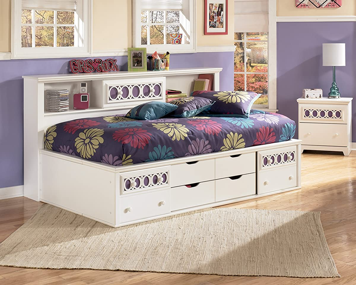 Roundhill Furniture Jura Bookcase Day Bed Twin White