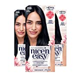 Clairol Nice'N Easy Crème 2BB Blue Black (3 Kits) (Color: 2BB Blue Black, Tamaño: 3 Kits)