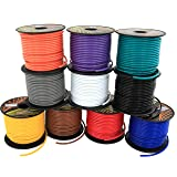 16 GA Primary Wire 10 Roll Color Combo   100 ft per Color (1000' total) CCA Cable for Automotive Trailer Harness Car Speaker Amplifier Wiring (Others in Product Family: 4 & 6 Color Pack) (Color: Red, Black, Blue, Yellow, White, Green, Purple, Grey, Orange, Brown, Tamaño: 1000 ft)