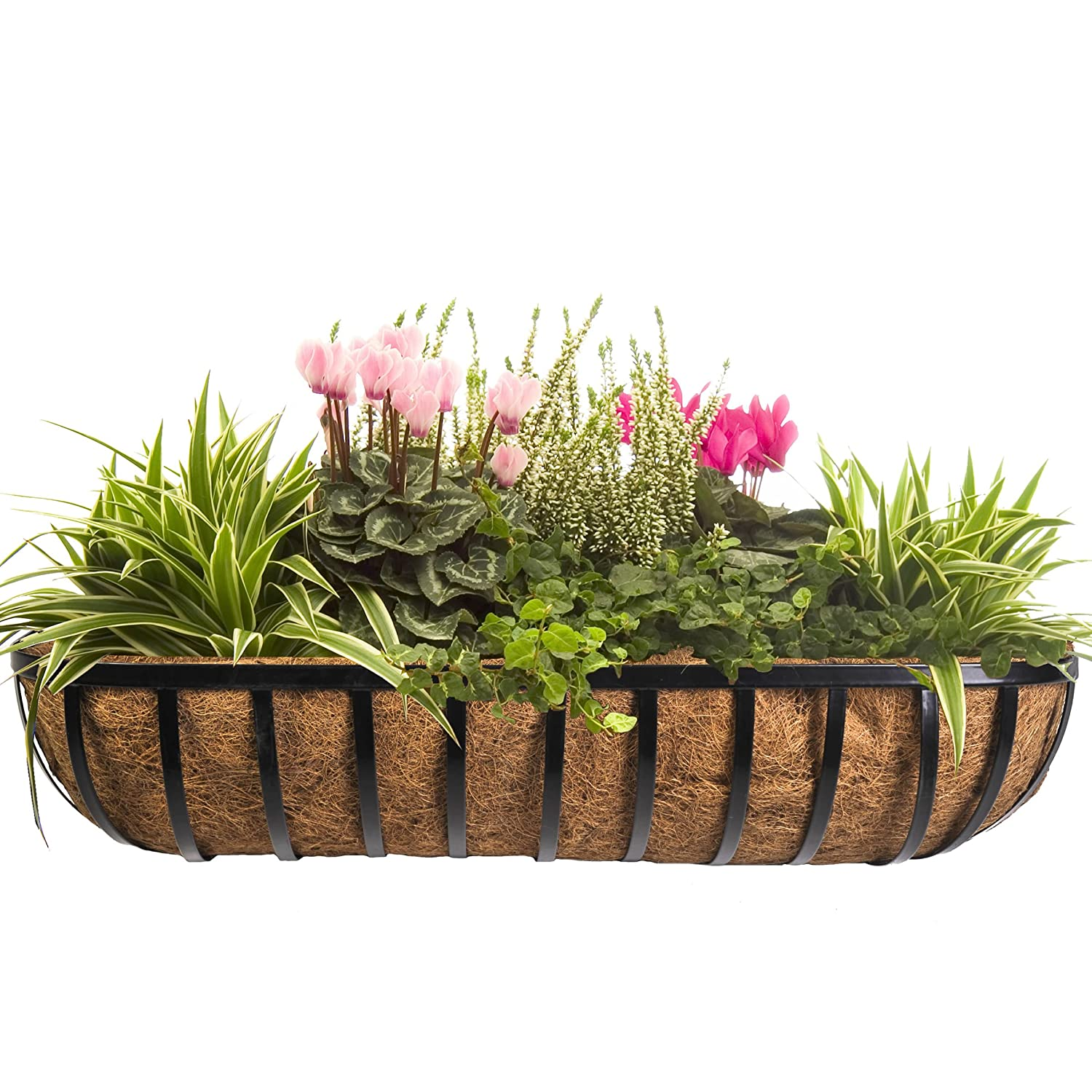 Beautiful metal planters for wall decoration strong and for Wall plants outdoor