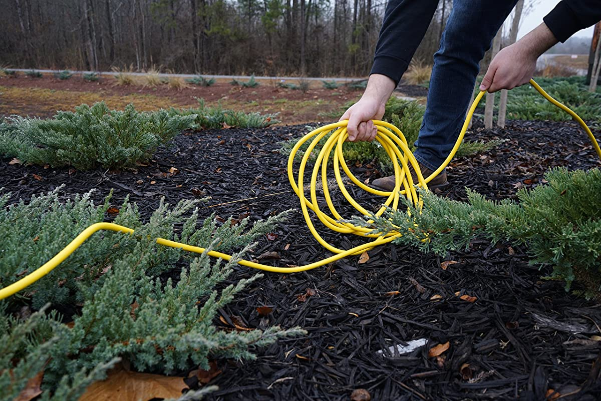 Southwire 2588SW Outdoor Extension Cord- 12/3 American Made SJTW Heavy Duty 3 Prong Extension Cord- Great for Commercial Use, Gardening, and Major Appliances ( 50 Foot- Yellow)