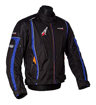 Roleff Racewear 150526 Veste Moto Como, Bleu, Taille XXL