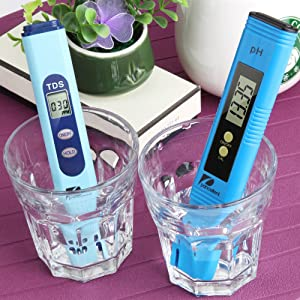 Water Quality Test Meter Pancellent TDS PH 2 in 1 Kit 0-9990 PPM Measurement Range 1 PPM Resolution 2% Readout Accuracy