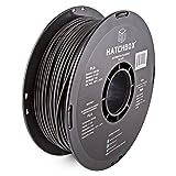HATCHBOX PLA 3D Printer Filament, Dimensional Accuracy +/- 0.03 mm, 1 kg Spool, 3.00 mm, Black (Color: 3D PLA-1KG3.00-BLK)
