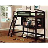 Coaster Home Furnishings 460063 Perris Twin Workstation Loft Bed Cappuccino (Color: Cappuccino, Tamaño: Twin)