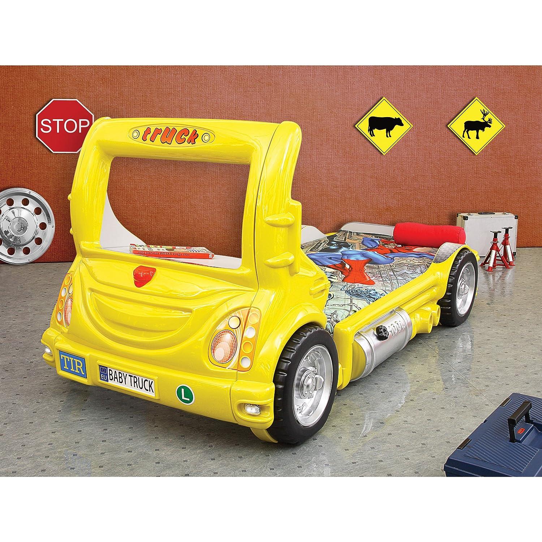 Kinder Bett Kinderbett mit Matratze Laster Truck LKW Auto (gelb) online kaufen