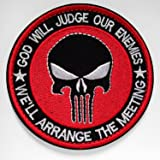 WZT Lot Military Embroidered Patche Morale Patches Cloth Fabric Badges Tactical Patche for Cap Bag Jackets Punisher Patch (1) (Color: 6)