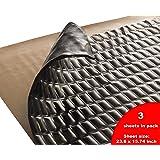 Sound Deadening mat Silver Black 80mil - Sound Deadener Mat - Car Sound Dampening material - Sound dampener - Sound deadening material sound Insulation - Car Sound deadening Bulk Kit (7.5 sqft Black) (Tamaño: 7.5 sqft Black)