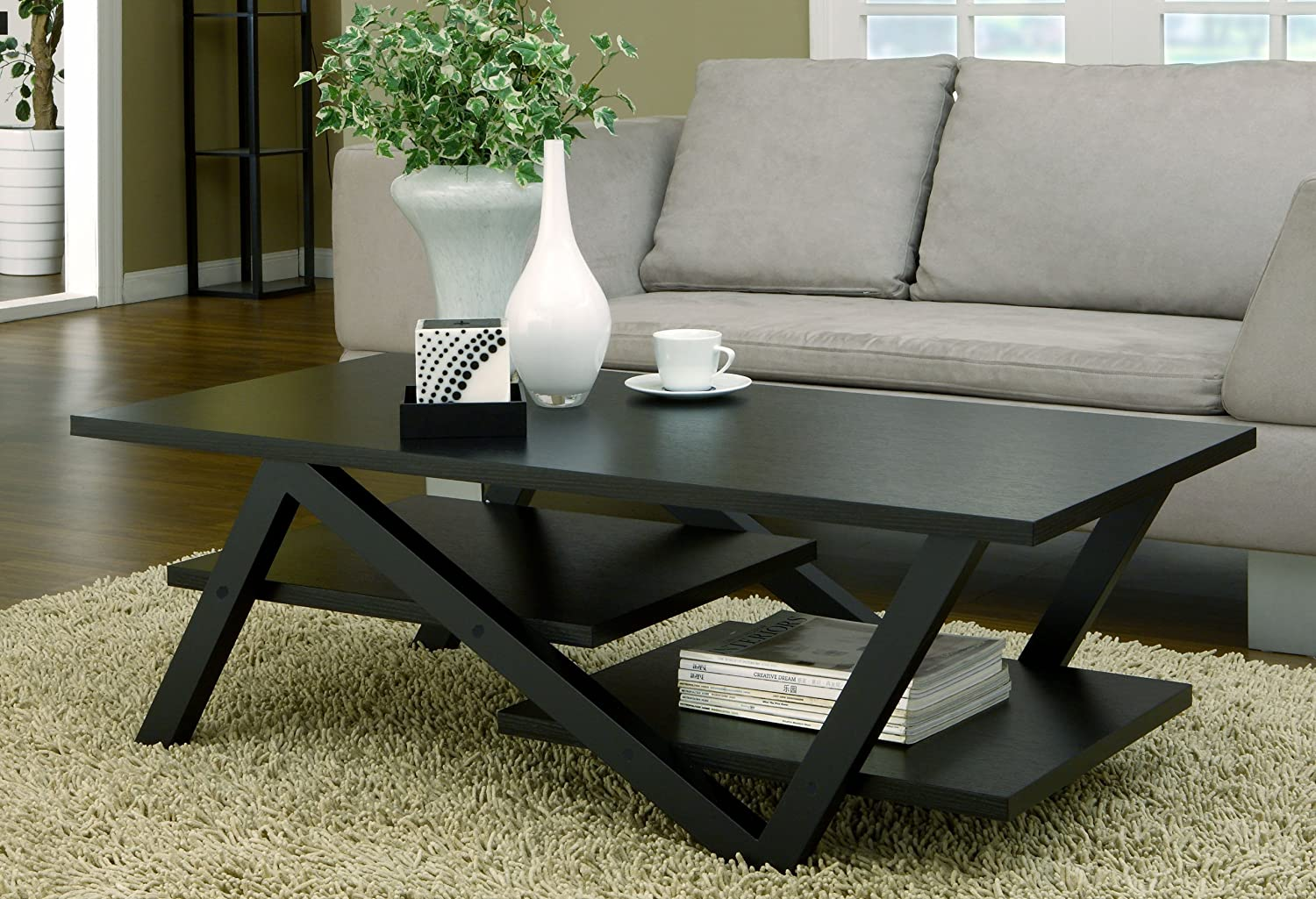 Black Coffee Table Decorating Ideas