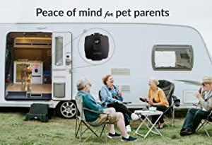 RV PetSafety | Pet Monitor 4G Lite - Powered by Verizon Cellular - No Wi-Fi Needed - Pet Environment Temperature & Humidity Monitor - 24/7 SMS & Email Alerts - in-app (iPhone/Android) Notification.
