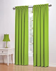 lime green panel curtains