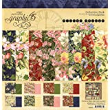 Graphic 45 Floral Shoppe 12x12 Collection Pack (Color: Red, Blue, Green, Pink, Tamaño: 12-x-12-Inch)