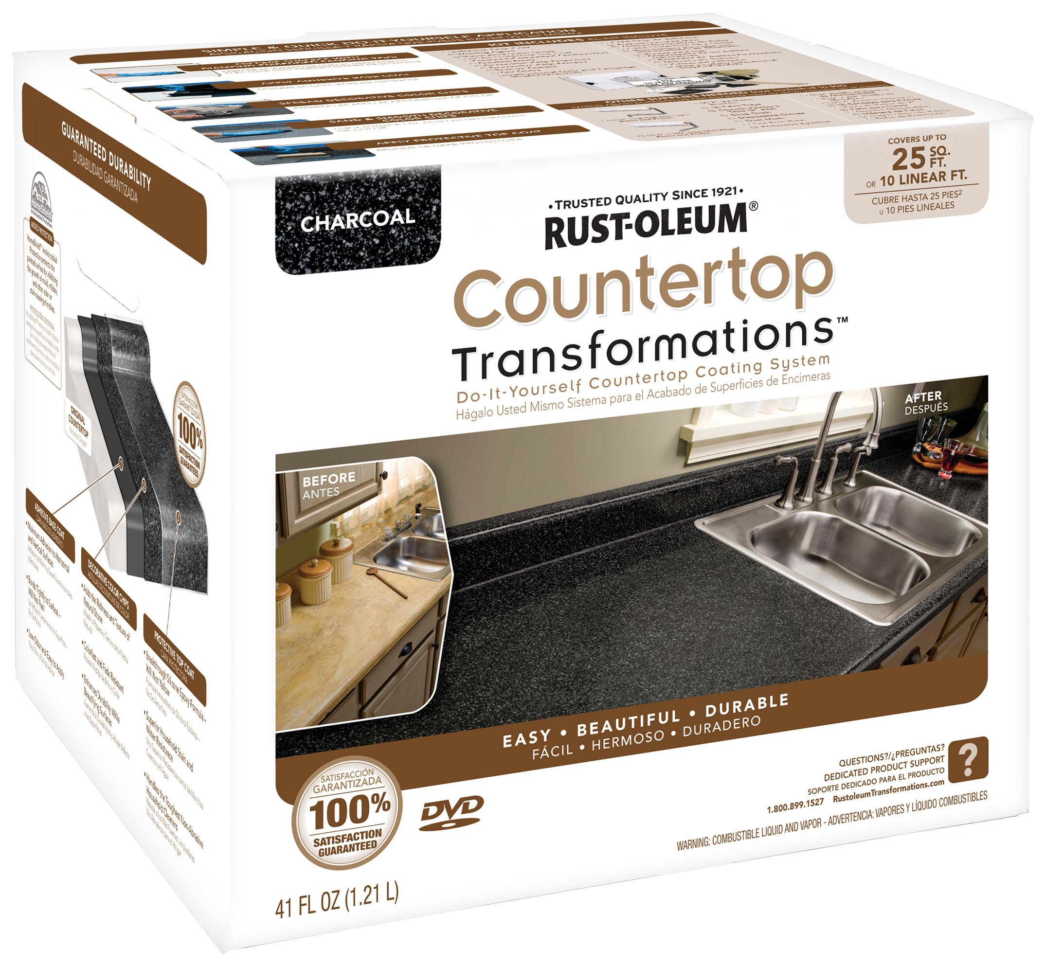 Rustoleum Countertop Paint Application : ... Transformations Rust Oleum Paint Coating Kitchen Sink Charcoal eBay