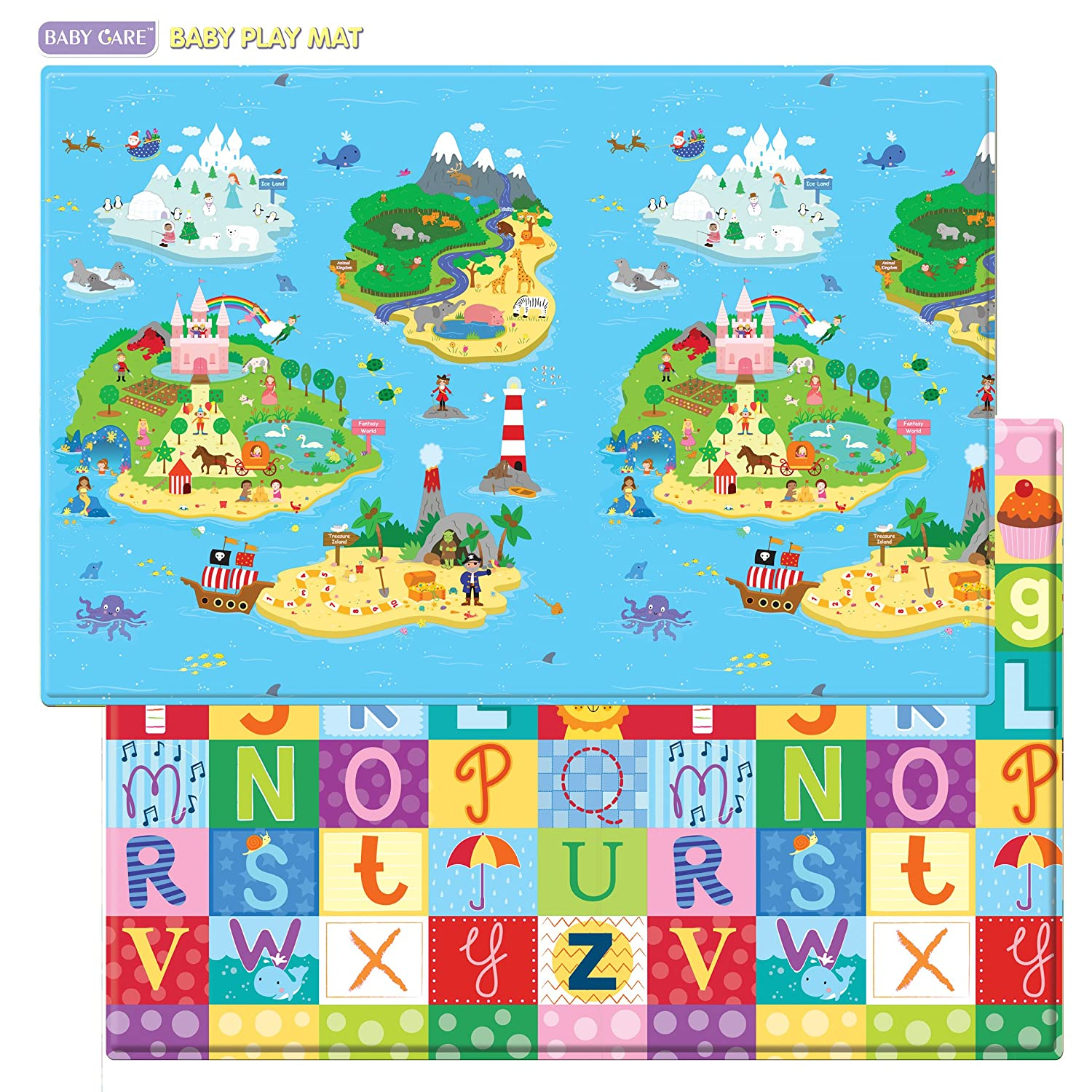 Baby Care Play Mat (83 x 55 x 0.5 inches) baby care super atv 551
