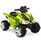 Best Choice Products Kids 12V Battery Powered Ride On 4-Wheeler ATV w/ LED Headlights, Forward and Reverse Gears - Green (Color: Green)
