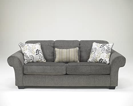 Makonnen Charcoal Color Soft Fabric Upholstery Contemporary Design Sofa Couch
