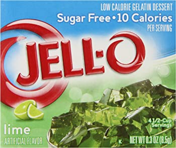 6-Pack Jell-O Sugar-Free Lime 0.3 Ounce Gelatin Dessert