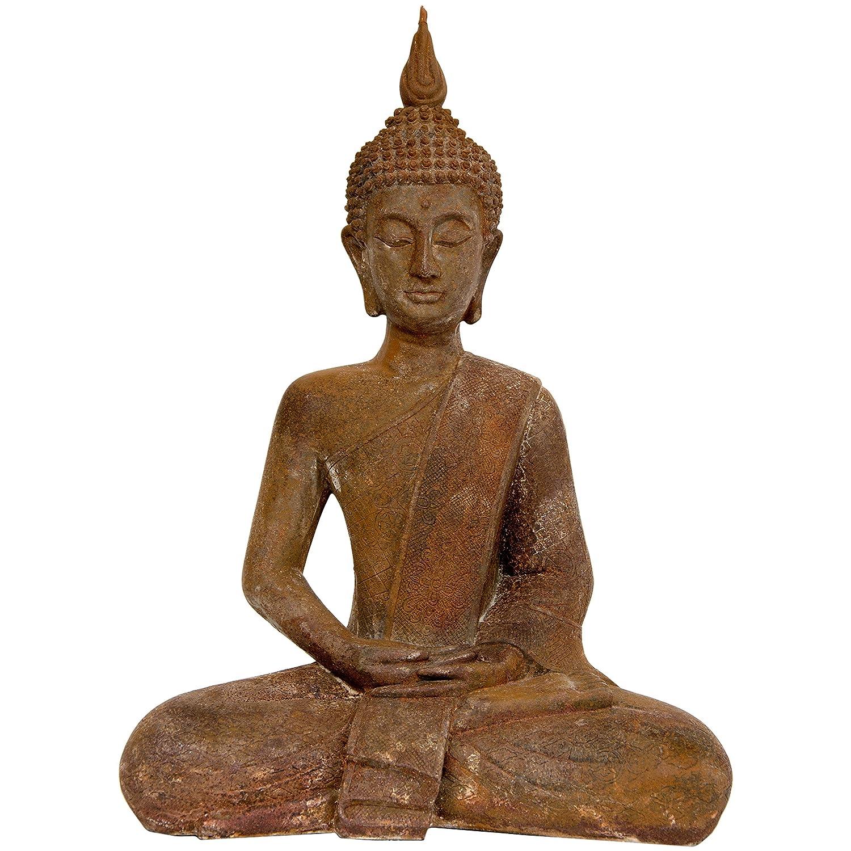 12 Inch Metal Home Decor Oriental Pearl Figurine Iron: Large Buddha Statues