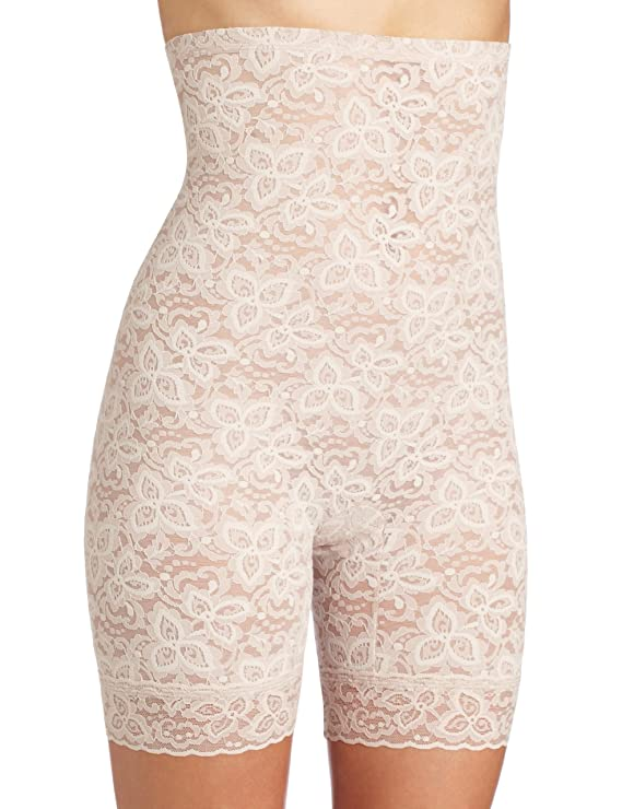 Bali Women's Shapewear Lace N Smooth Hi-Waist Thigh Slimmer
