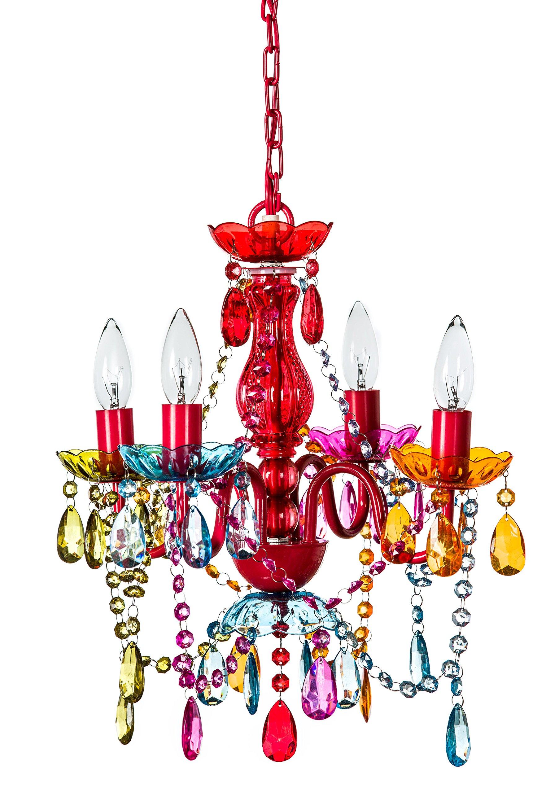 4 Arm Multi Color Gypsy Small Acrylic Crystal