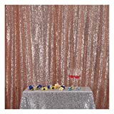 Poise3EHome 6FT x 8FT Sequin Photography Backdrop Curtain for Party Decoration, Rose Gold (Color: Rose Gold, Tamaño: 6x8 ft)