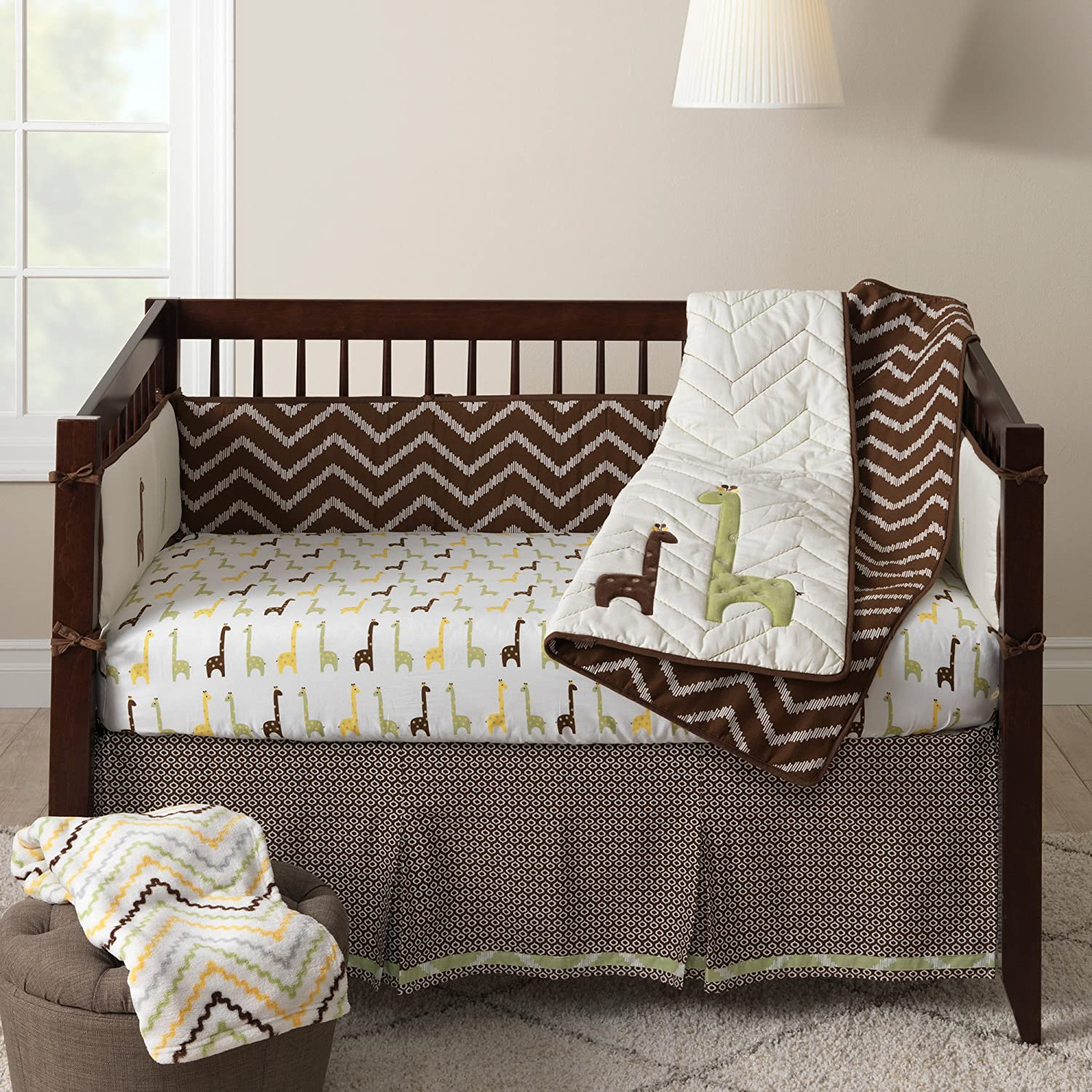 Lambs and Ivy Brown Giraffe Baby Bedding