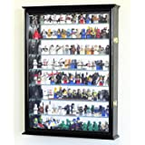 Large Lego Men Minifigures /Star Wars / Disney / Minature Figurines Display Case Cabinet (Black Finish) (Color: Black Finish)