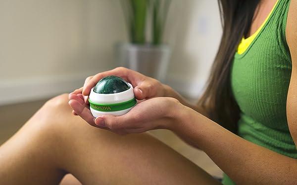 Massage Ball Roller 2 Piece Deluxe Set