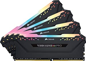 CORSAIR Vengeance RGB PRO 32GB (4x8GB) DDR4 3000MHz C15 LED Desktop Memory - Black (Color: RGB PRO - Black, Tamaño: 32GB (4x8GB))