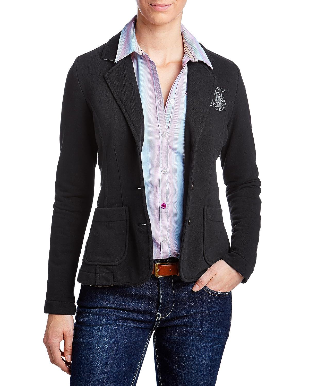 Arqueonautas Damen Sweatblazer Kurzjacke Jacke schwarz, günstig kaufen