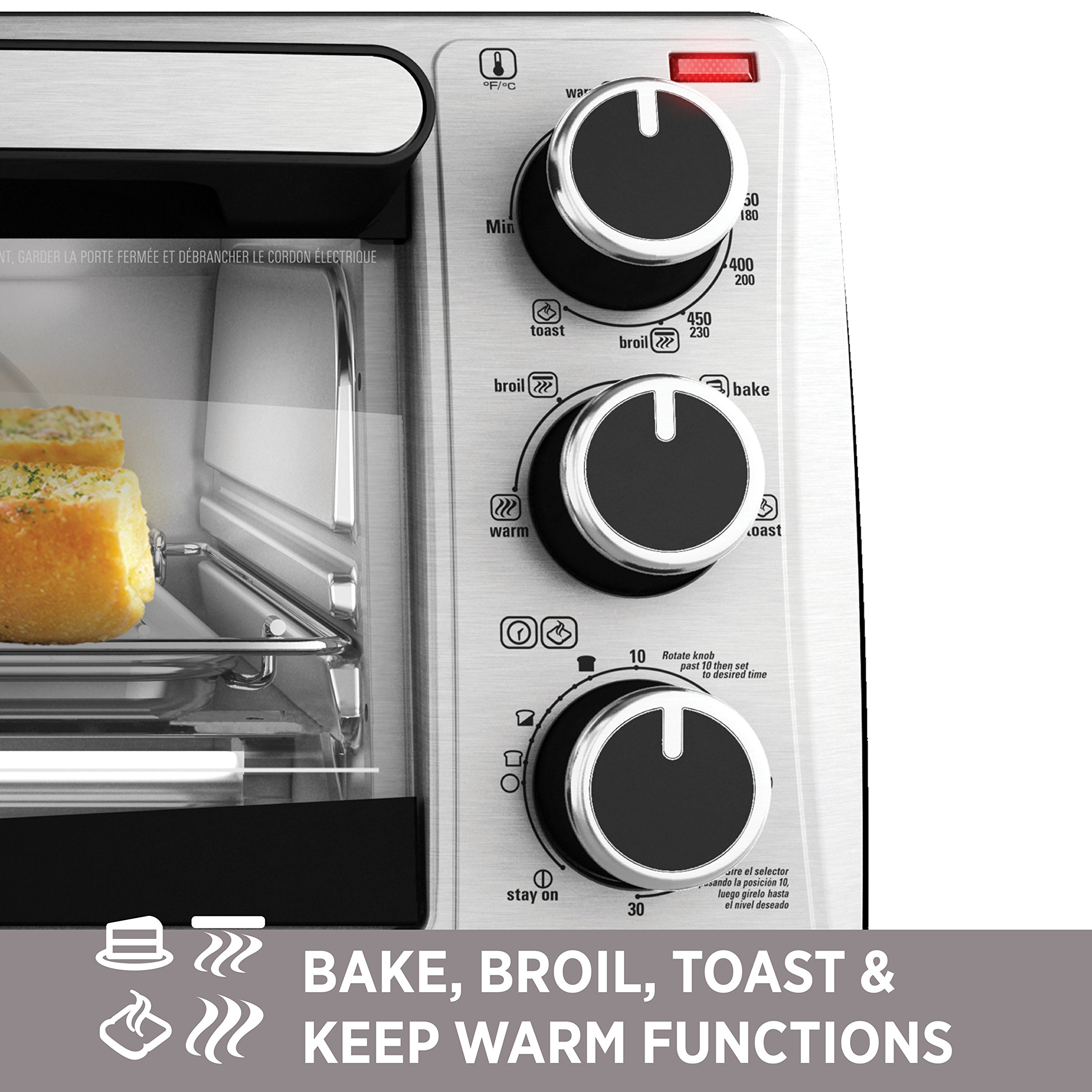 Countertop Oven For Baking Philippines : Galleon - BLACK+DECKER TO1303SB 4-Slice Toaster Oven, Includes Bake ...
