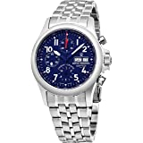 Revue Thommen Air Speed Pilot 41 MM Mens Blue Dial Stainless Steel Automatic Chronograph Day Date Swiss Watch 17081.6139