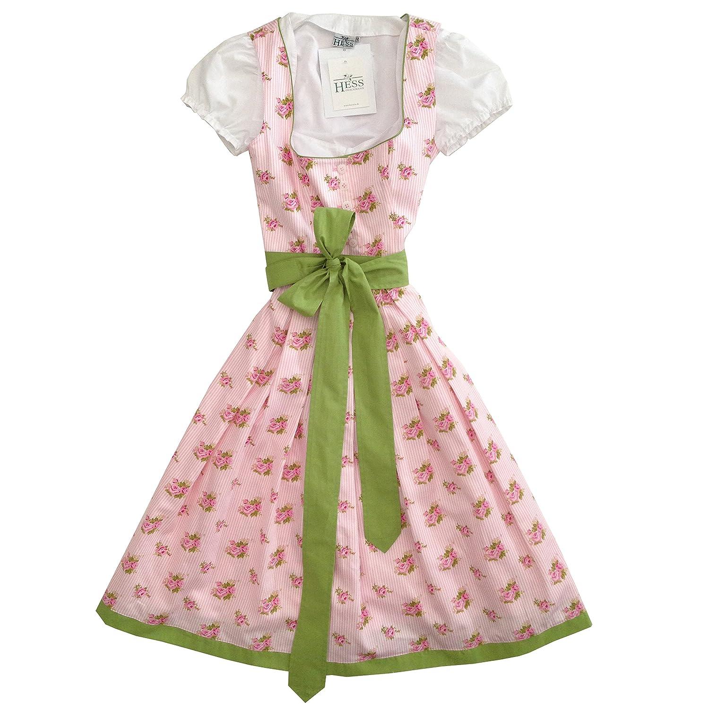 Berwin&Wolff Damen Dirndl *BAD ISCHL* rosa/weiß mit grünem Schürzenband und weißer Bluse günstig bestellen