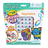 Crayola Glitter Dots DIY Keychains Craft Kit Age 5+ (Color: Keychains, Tamaño: One Size)