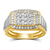 Diamond Jewel 10K Yellow Gold 5/8 CT TW Diamond Mens Ring