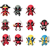 Marvel Deadpool Series 1 Collectible Blind Bag Key Chains (Color: Red, Tamaño: ONE)